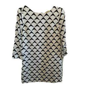 J. Crew Factory Mod Geometric Dress Sz 2 White